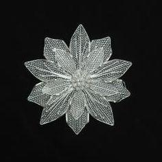 silver filigree brooch