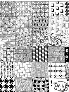 54 Zentangle pattern ideas for beginners, plus inspiration for taking your Zentangles to the next level. Doodle Art Drawing, Zentangle Drawings, Mandala Drawing, Zentangles, Drawing Ideas, Doodle Art Designs, Doodle Patterns, Zentangle Patterns, Cool Patterns To Draw
