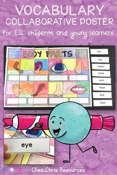 Body Parts Vocabulary - a Collaborative Poster Esl Resources, School Resources, Teacher Resources, Teaching Ideas, Elementary Teacher, Primary School, Interactive Activities, Blog Love, Autumn Activities