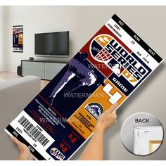 2007 World Series Mega Ticket -Colorado Rockies (First World Series)