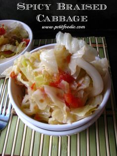 Spicy Braised Cabbage | www.petitfoodie.com