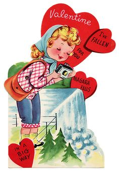 I've Fallen for You. #vintage #valentine * 1500 free paper dolls at Arielle Gabriel's The International Paper Doll Society also at The China Adventure of Arielle Gabriel free paper dolls *
