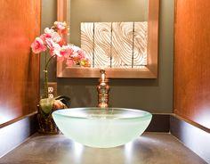 Beautiful lines, elegant look - bathroom sink perfection.
