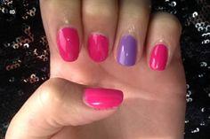Pink bikin lilac longing cnd shellac gel polish