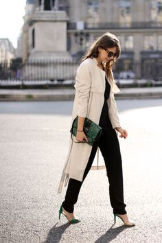 The Brunette / Emilie has chosen a Kate Moss For Longchamp clutch bag of SS2014 Collection - French Blog