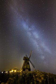 Rottingdean under Milky Way by Sumitra Sribhashyam Dark Night, Milky Way, Night Skies, Northern Lights, Sky, Explore, Nature, Travel, Heaven