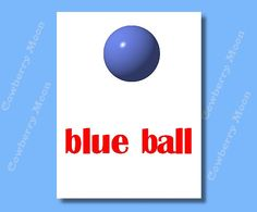 "Teach Baby Book ""blue ball"" Page- Small Book,Homeschool Book Blue ball Page,Learn To Read Blue ball Page,Home School,Child Reading by CowberryMoon on Etsy"