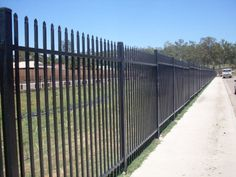 Security fencing is built to keep people both in and out of an area. Security fencing can be built with a number of materials to suit your desired style. Privacy Fence Designs, Security Fencing, Deck, Building, Outdoor Decor, School, Front Porches, Buildings, Decks