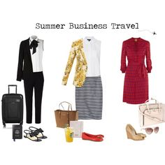 119522dd9e9 Summer Business Travel Outfits Business Trip Packing