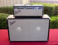 1967 FENDER BASSMAN BLACKFACE AMP HEAD AB165 and FENDER SPEAKER CABINET COMBO !!