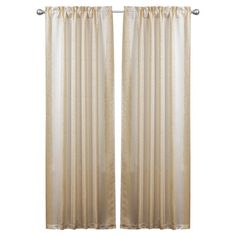 Set of two curtain panels with floral jacquard striping. Product: Set of 2 curtain panels and 2 tiebacksConstructio...
