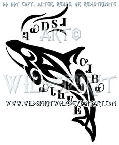Cherokee Orca Tribal Design by WildSpiritWolf on DeviantArt Deviant Art, Back Of Forearm Tattoo, Cherokee Words, Orca Tattoo, Tattoo Ribs, Celtic Knot Designs, Whale Art, Killer Whales, Native Art