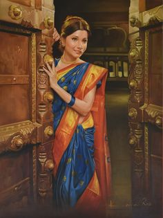 Intezaar painting by Kamal Rao Indian Women Painting, Indian Art Paintings, Indian Artist, Durga Painting, Woman Painting, Indian Traditional Paintings, Indiana, Rajasthani Painting, Indian Illustration