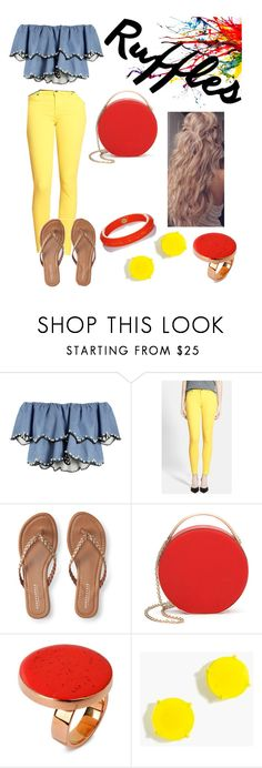"""""""Follow me please😊"""" by jaydiebug ❤ liked on Polyvore featuring HUISHAN ZHANG, 7 For All Mankind, Aéropostale, Eddie Borgo, STELLA McCARTNEY, J.Crew and Mark Davis"""