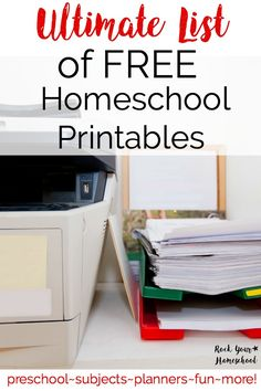 The ultimate list of FREE homeschool printables is here! Updated regularly, you will want to bookmark this page to come back again & again for this compilation of awesome homeschool printables at no cost to you!