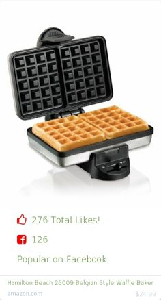 Top christmas gift on Facebook.  Top christmas gift on undefined 276 people likes on Internet. 126 facebook likes. 150 thumbs-up on .undefined hamilton beach amazon christmas gift. hamilton beach 26009 belgian style waffle baker from amazon christmas gifts. http://www.MostLikedGifts.com/top-popular-christmas-gifts/amazom-christmas-gift-B003HL1JZO-hamilton-beach-26009-belgian-style-waffle-baker