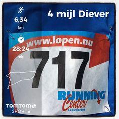 4 mijl van Diever in Diever. 6,4 km (4 mijl) in 27:11.