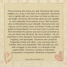 Lessons Learned in Life | Someone who loves you.