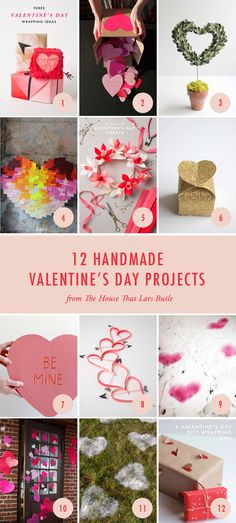 12 great projects for a homemade Valentine's Day.