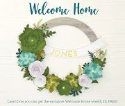 Welcome Home Wreath - CTMH January Papercrafting Month Special!  Click on the photo to see how you can get this kit FREE!!