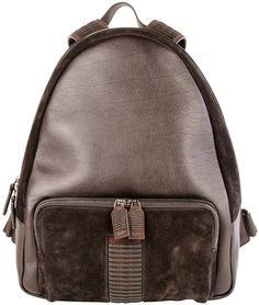 Salvatore Ferragamo Black Leather Backpack- 7112style.website -