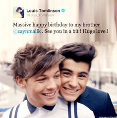 Zouis <3 I LOVE how he called him his brother <3 <3 <3 <3 <3