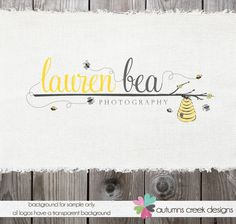 Premade Logo Designs for Photographers: Bee Logo Design