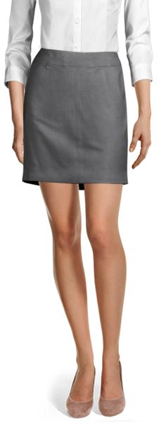 Bernai | GREY WOOL SKIRT Wool Skirts, Mini Skirts, Business Skirts, Tailored Suits, Design Your Own, Suits For Women, Perfect Fit, Classy, Shirt Dress