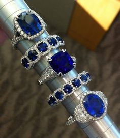 Love the velvety rich cornflower blue sapphires. Gorgeous.