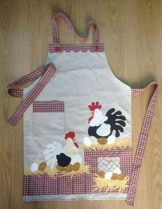Ideas embroidery designs simple quilt patterns for 2019 Vintage Embroidery, Embroidery Patterns, Chicken Quilt, Chicken Pattern, Chicken Crafts, Cute Aprons, Easy Quilt Patterns, Apron Patterns, Sewing Aprons