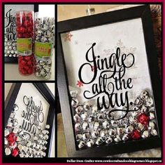 Dollar Store Crafter: DIY 'Jingle All The Way' Wall Art