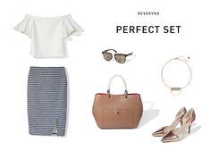 Perfect Set! Reserved 16' #stripes#elegant#chic