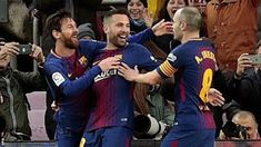 Lionel Messi marked his 400th Barcelona appearance with a goal as the La Liga leaders maintained their nine-point advantage with victory over Levante.  Messi opened the scoring at the Nou Camp chipping the ball to Jordi Alba and volleying home the return.  His 365th La Liga goal equalled Gerd Muller's record for goals in a single one of Europe's top five leagues.  Luis Suarez produced a superb strike before half-time and Paulinho tapped in a third in second-half stoppage time.  Suarez…