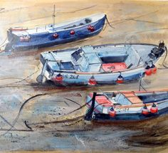 Glyn Macey challenge 2 - Boats by Hugh canning The Artist Magazine, Boats, Magazines, Exercises, Art Ideas, Challenges, Canning, Artwork, Journals