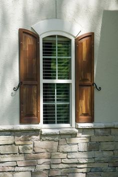 French country shutters.  Stain color only; for shutters.
