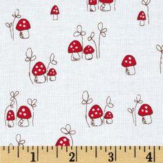 Riley Blake Little Red Riding Hood Little Mushrooms Red