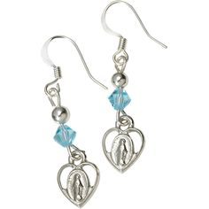 Miraculous Heart Earrings - Available at Leaflet Missal