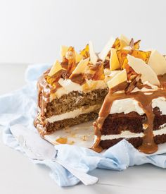 Best-Ever Banana Cake  It's my famous Best-Ever Banana Cake – as you've never seen it before! I've jazzed it up here with fancy decorations, but the basic cake is also good topped with a simple chocolate, lemon or passionfruit icing.   This recipe is from my new book Essential Volume Two! The only sweet book you'll ever need! Order your copy here https://www.annabel-langbein.com/shop/books/