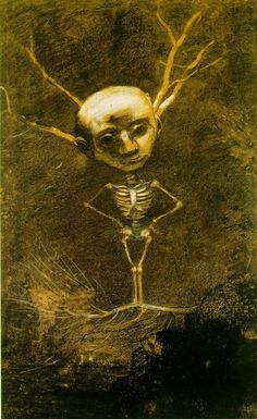 Image Spirit of the Forest (Specter from a Giant Tree)  Odilon Redon (1880)