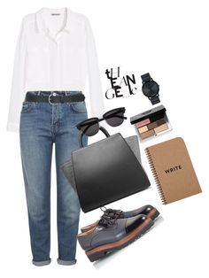 """""""Untitled #13"""" by aloha-tsyglina on Polyvore featuring H&M, Topshop, M&Co, Parlanti, ZAC Zac Posen, Yves Saint Laurent, Bobbi Brown Cosmetics and Movado"""