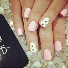 Gel manicure with design $38 #laquenailbar #Padgram