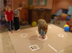 Do-It-Yourself Kids' Fitness Equipment: Tape Targets