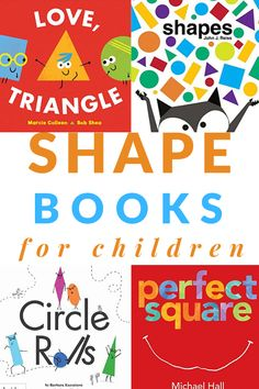 Fun read-aloud books about shapes from board books to picture books including a printable booklist to take the library or stick in your lesson plans. Math Books, Preschool Books, Toddler Preschool, Fall Preschool, Preschool Science, Toddler Learning, Preschool Worksheets, Read Aloud Books, Good Books