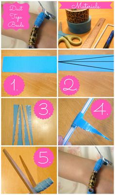 duct tape crafts for kids | Duct Tape Beads | Duct Tape Doodles