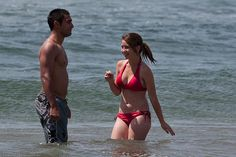 Toned Couple at the Beach