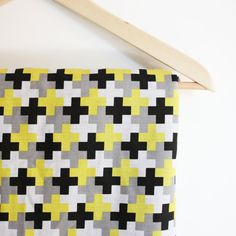Gorgeous!! Baby Blanket / Black Grey Yellow / Gender Neutral / by LilHipStar