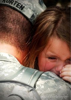 """This made me cry...remembering the nights my dad finally came home after 2 long years..he would whisper, """"I'm back McKenna"""" and I would cry and hug him for hours.."""