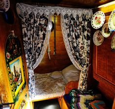 The crew accomodation onboard narrowboat Sagitta, which when in use would have been utilised by a family of four or five. Sagitta was built in 1935 for the Grand Union Canal Carrying Company. She is now maintained by the Dudley Canal Trust.