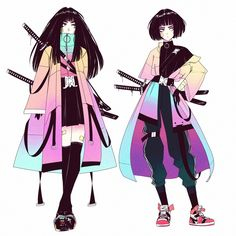Post with 2245 votes and 84376 views. Tagged with art, anime, fantasy, cyberpunk; Shared by Art by vinne( Female Character Design, Character Design Inspiration, Character Art, Aesthetic Art, Aesthetic Anime, Character Aesthetic, Art Mignon, Japon Illustration, Hero Costumes