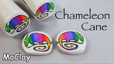 DIY Chameleon cane - Polymer clay tutorial.